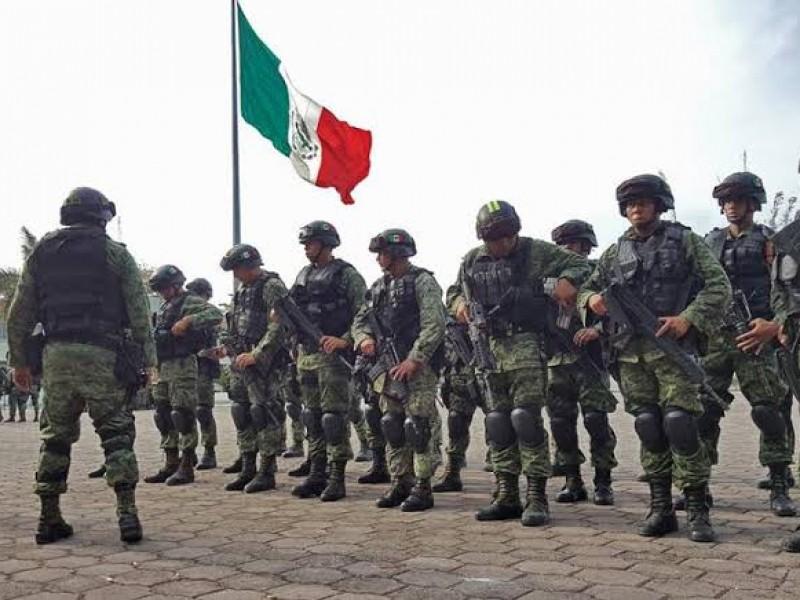 Regresarán en 5 años militares a cuarteles