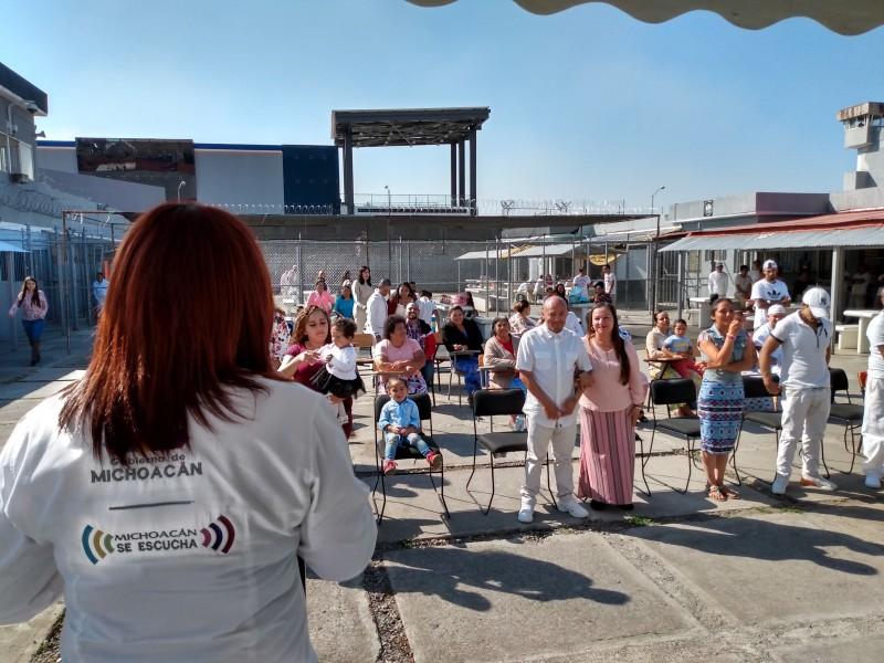 Regularizan estado civil de internos del CERESO Zamora