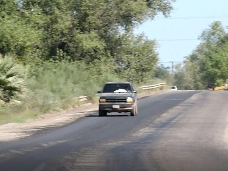 Rehabilitan carretera de Bácum