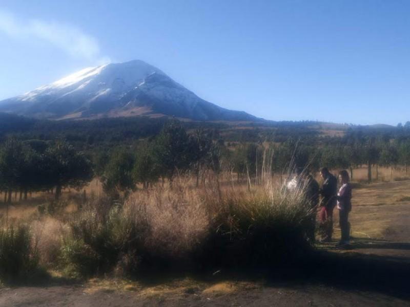 Rehabilitan rutas de evacuación del Popocatépetl