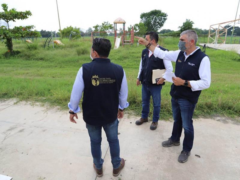 Rehabilitará SOP Unidad Deportiva en Acapetahua