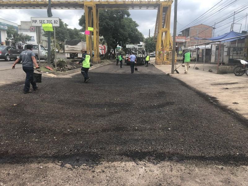 Rehabilitarán laterales de Av. Madero Poniente