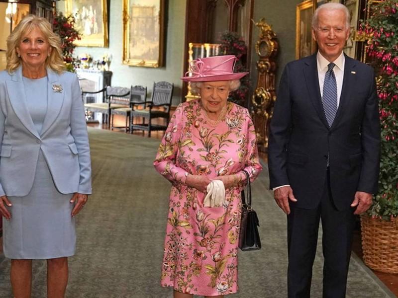 Reina Isabel recibe a Biden en Castillo de Windsor