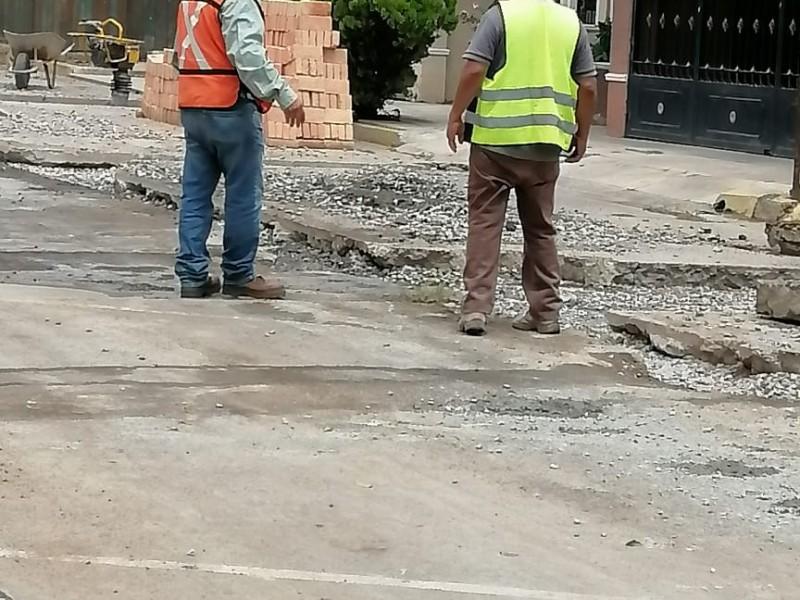 Reinician las obras en calle Roma de Ciudad del Valle