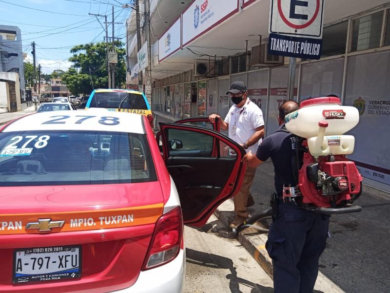 Reiteran recomendaciones sanitarias a transportistas urbanos de Tuxpan