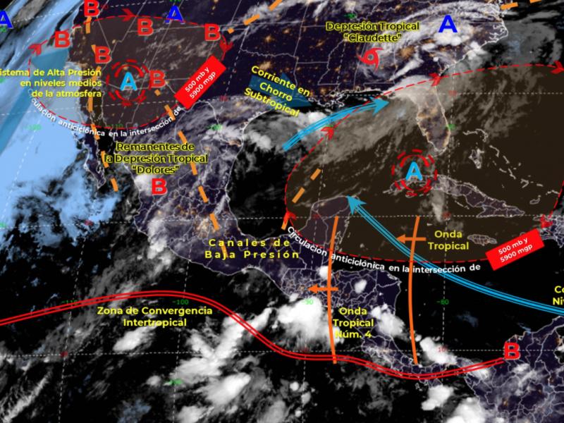 """Remanentes de """"Dolores"""" generarían lluvias puntales intensas: CONAGUA"""