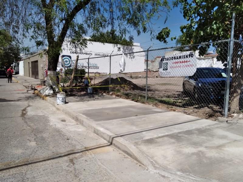 Reparación del pavimento en la colonia Andrade
