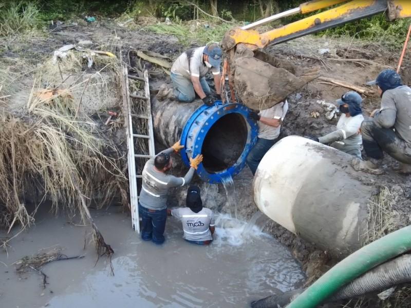 Reparan daño que mantenía sin agua potable a 49 colonias