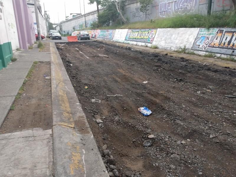 Repavimentación de Lázaro Cárdenas sorprende a comerciantes