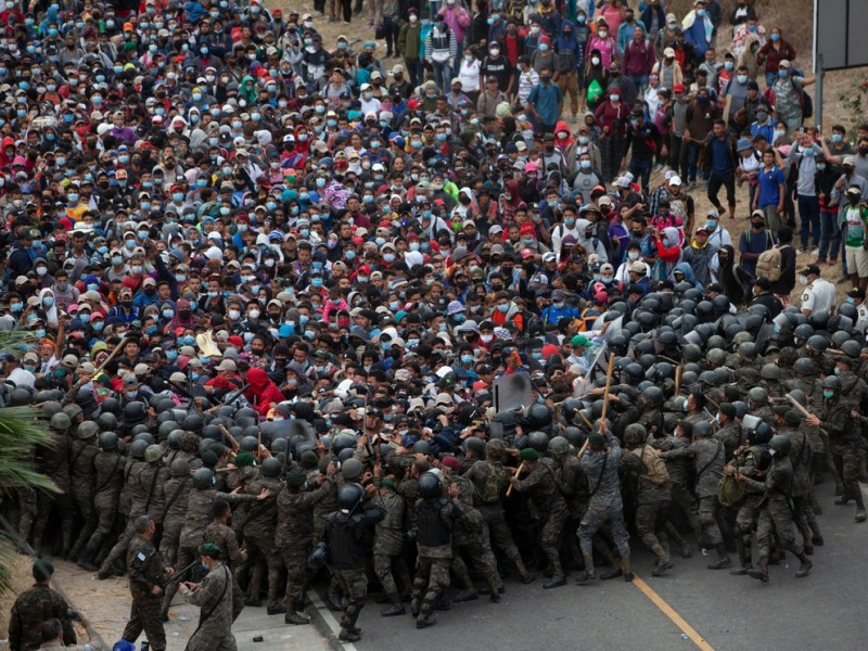 Reportan 21 casos de covid-19 en caravana migrante