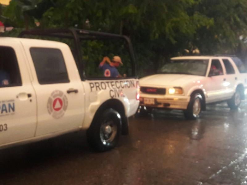 Reportan afectaciones por lluvia; PC activa alerta