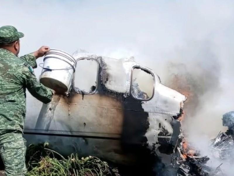 6 muertos en accidente de la Fuerza Aérea en Veracruz