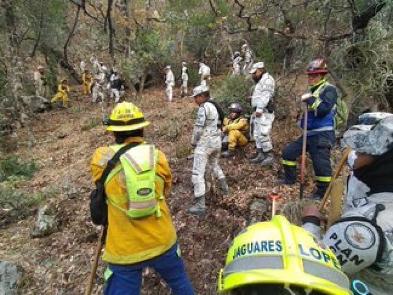 Reportan controlado al 15% el incendio forestal en Coahuila