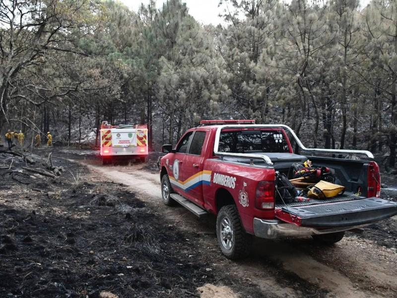 Reportan controlado incendio en La Primavera; hay 15 brigadistas lesionados