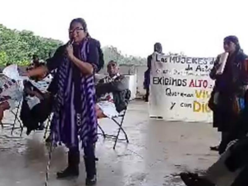 Reportan defensoras de la tierra amenazas en Chiapas
