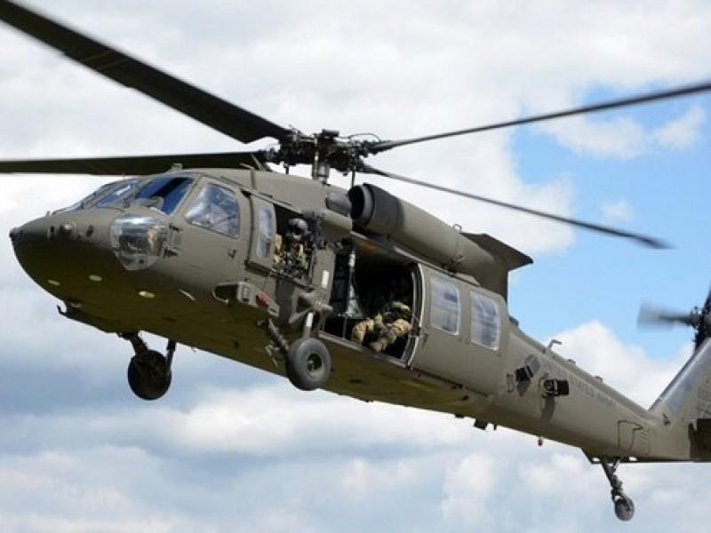Reportan desplome de helicóptero de la Semar