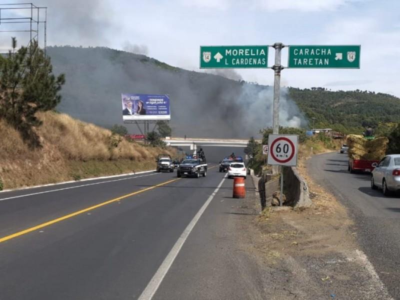 Reportan enfrentamiento en Uruapan