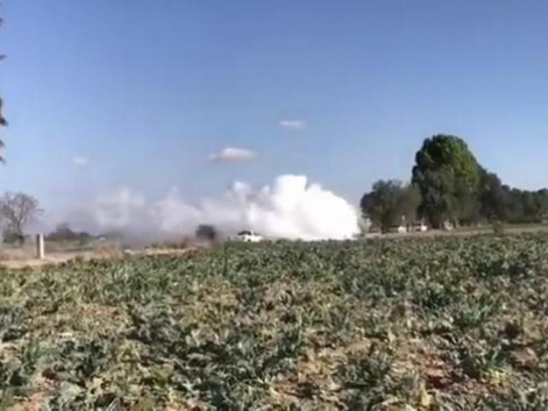 Reportan fuga de gas LP en Tepeaca