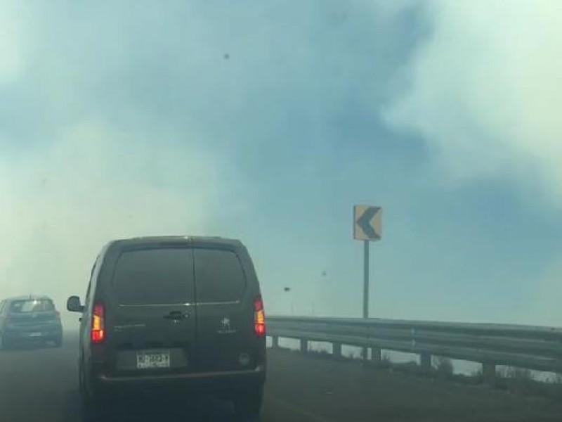 Reportan incendio en zona del Ramal Camelinas, en Morelia