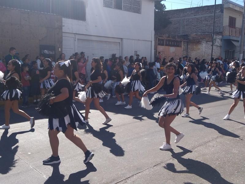 Reportan saldo blanco en desfile revolucionario en Jacona