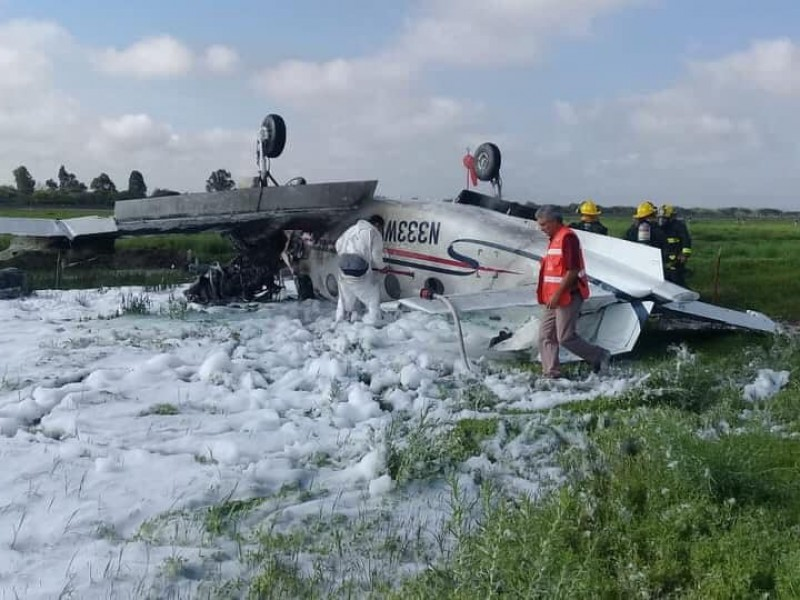 Reportan un muerto por accidente aéreo en Durango