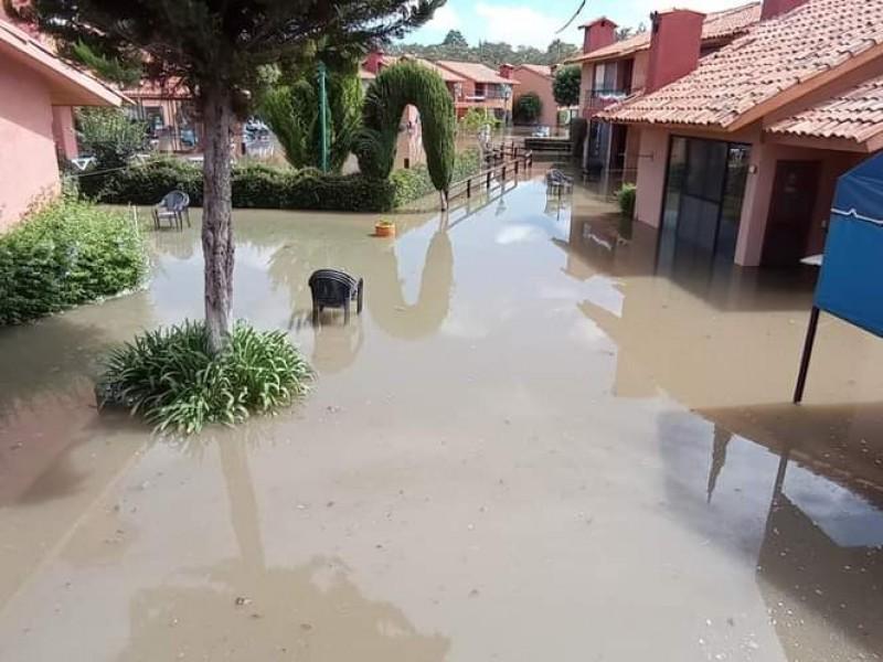 Reporte de afectaciones por lluvias en Querétaro