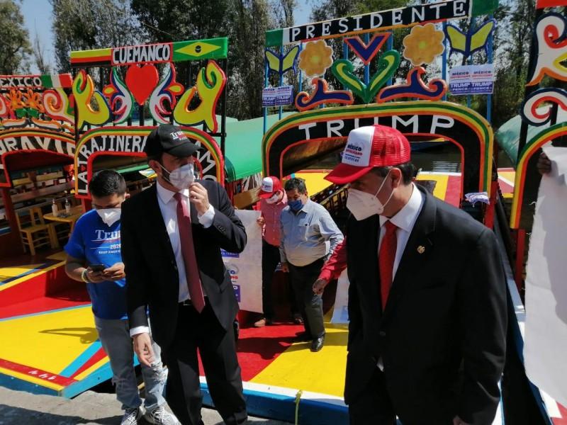 Republicanos organizan una caravana de apoyo a Trump en Cdmx