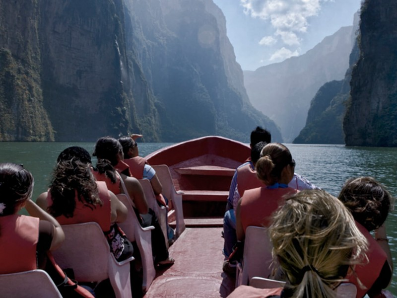 Repuntan visitas al Cañón del Sumidero