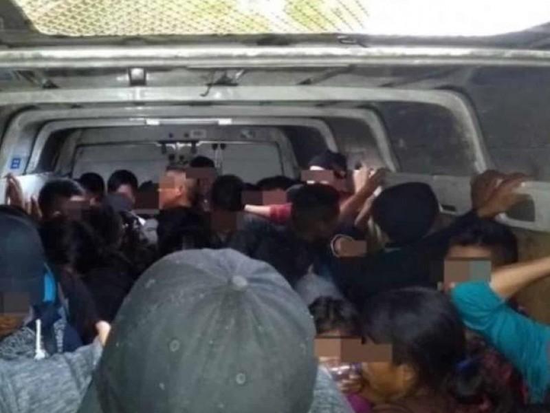Rescatan a 124 migrantes en Oaxaca