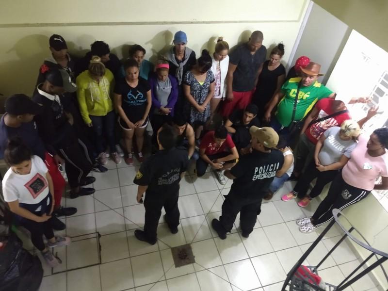 Rescatan a 34 migrantes en Chiapas