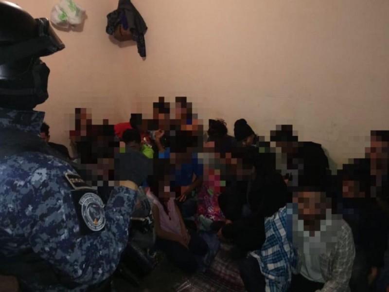 Rescatan a 37 migrantes en Reynosa, Tamaulipas
