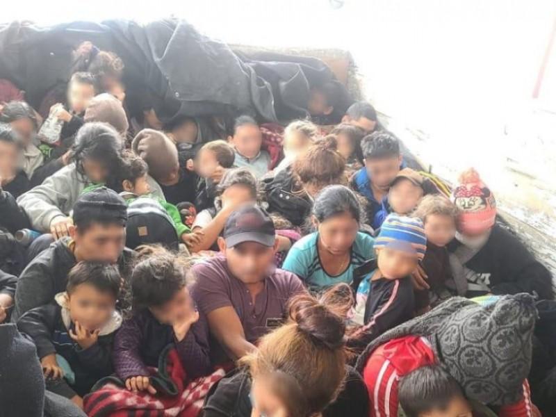 Rescatan a 61 migrantes centroamericanos en Nuevo León