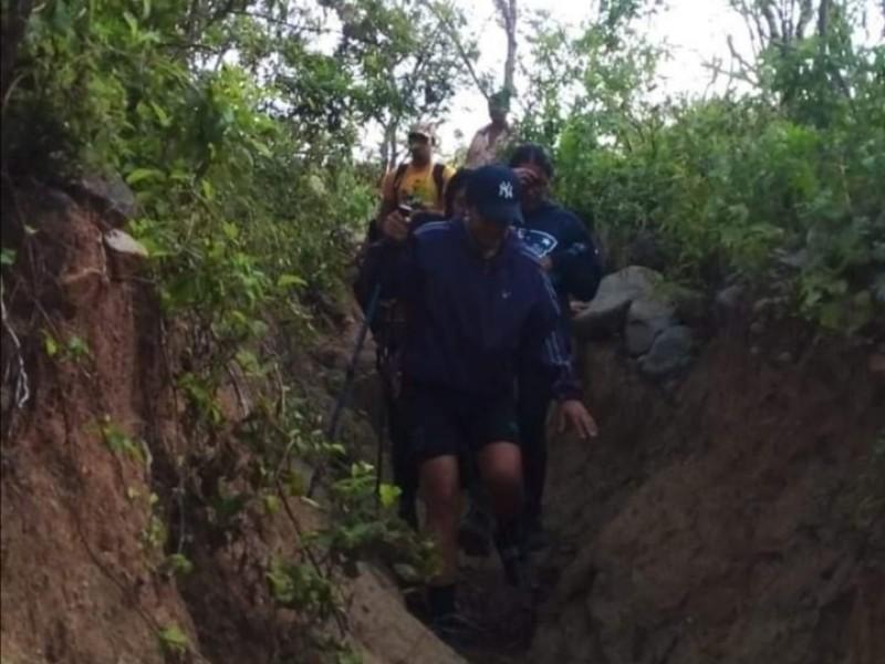 Rescatan a excursionistas extraviados en Sierra de la Laguna