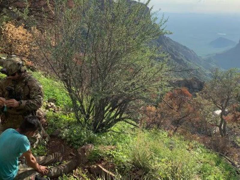 Rescatan a migrante de montañas Baboquivari