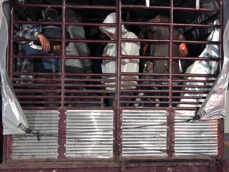 Rescatan en Chiapas a 103 migrantes centroamericanos
