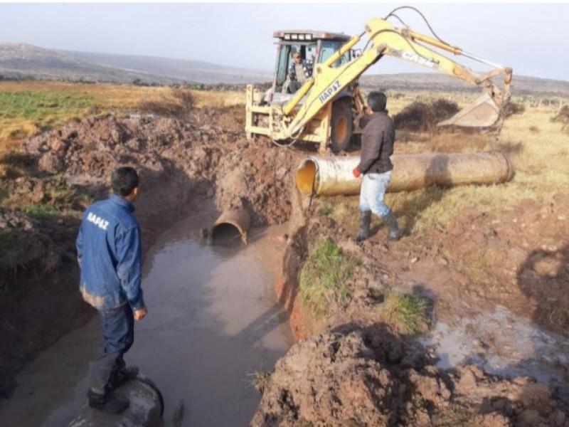 Restablecen servicio de agua en Guadalupe y Zacatecas
