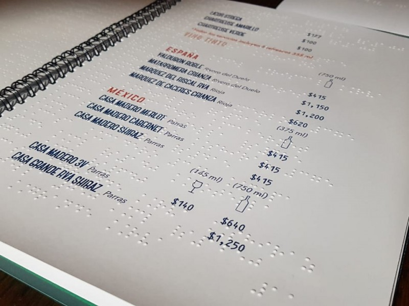 Restaurantes de Torreón contarán con menú Braille