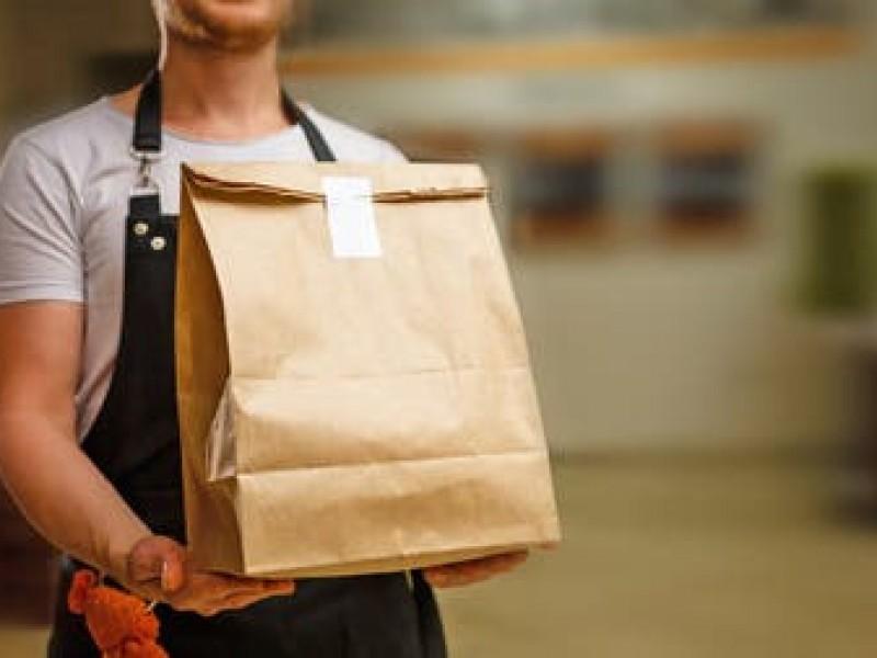 Restaurantes operan hoy con servicio a domicilio