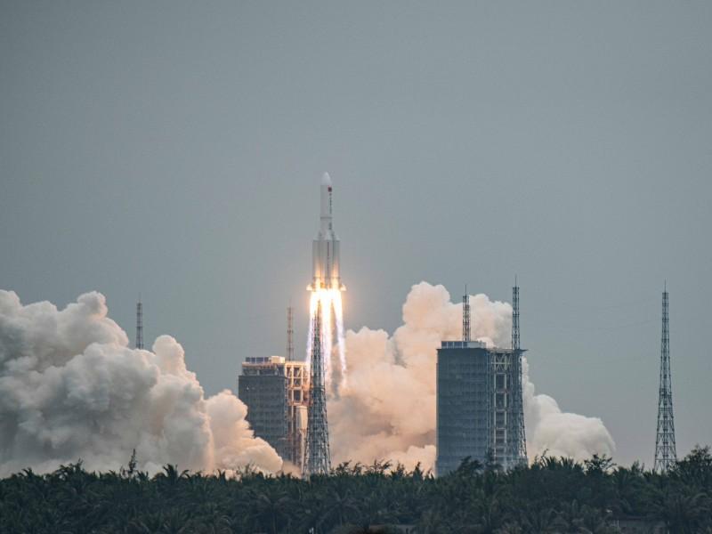 Restos del cohete chino cayeron en el oceano índico