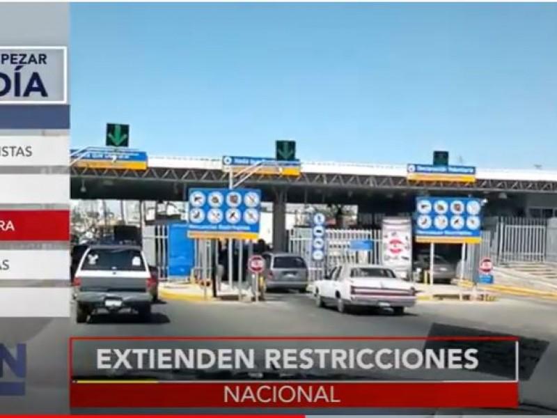 Restricciones en frontera entre MÉX-EUA se extiende un mes más