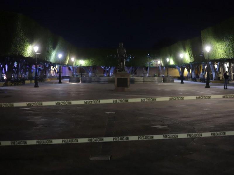 Restringen acceso a zonas del centro histórico para evitar aglomeraciones