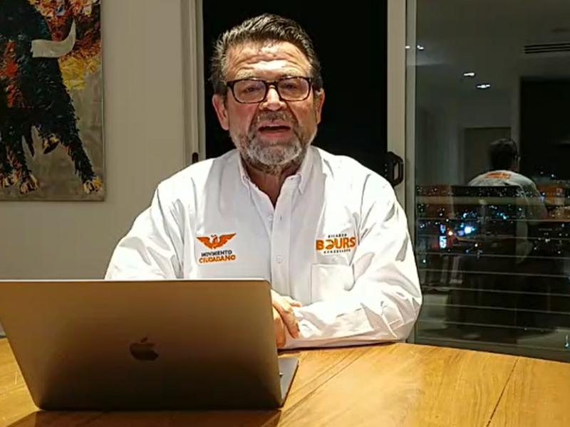 Ricardo Bours arranca campaña con mensaje a la media noche