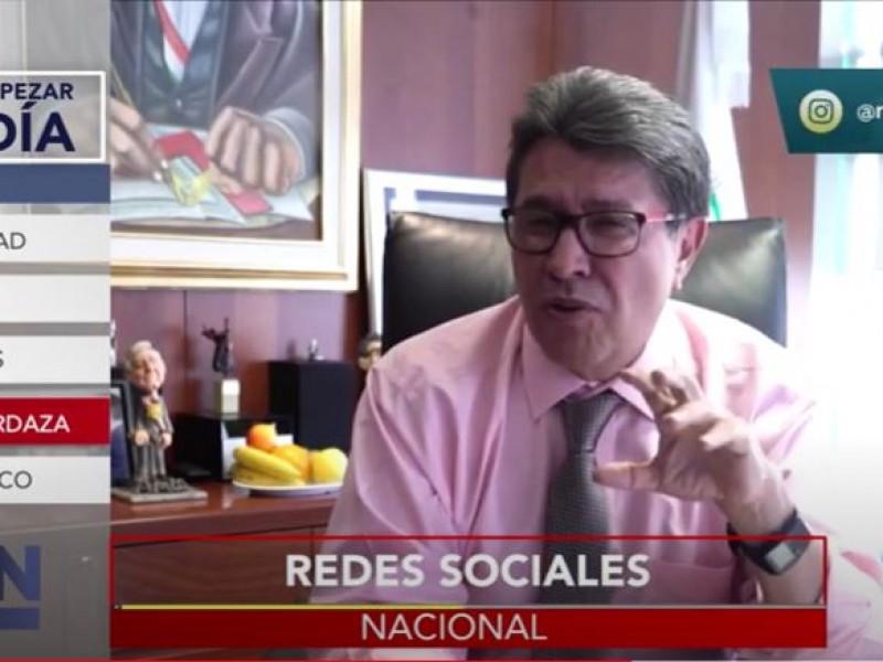 Ricardo Monreal presenta su iniciativa para regular las redes sociales