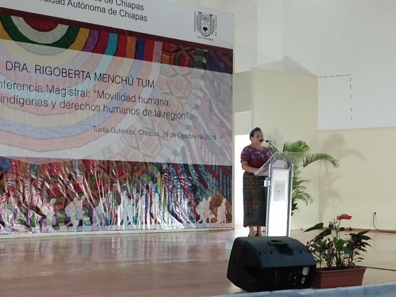 Rigoberta Menchú estuvo en Chiapas