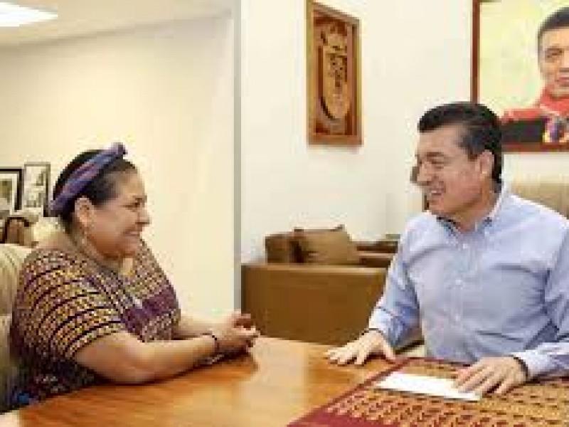 Rigoberta Menchú visitó Chiapas, destacó acciones conciliatorias