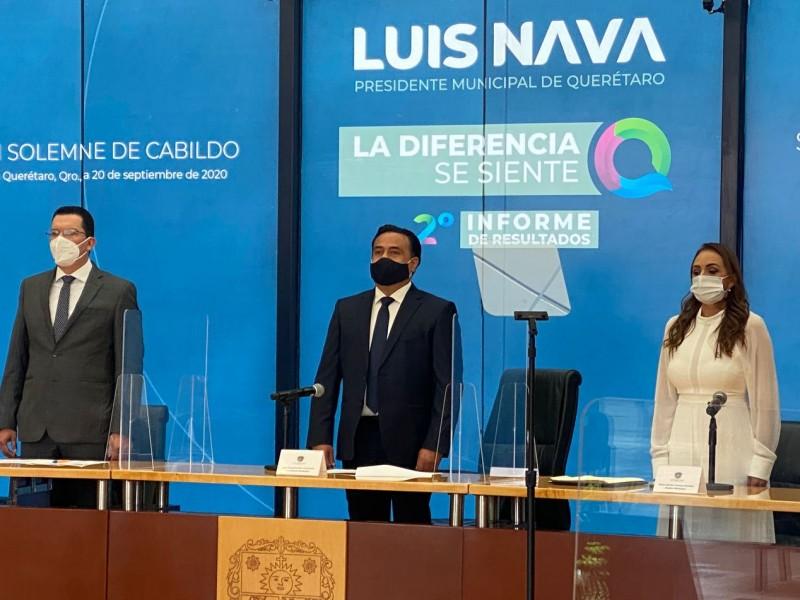 Rinde Luis Nava segundo informe de actividades