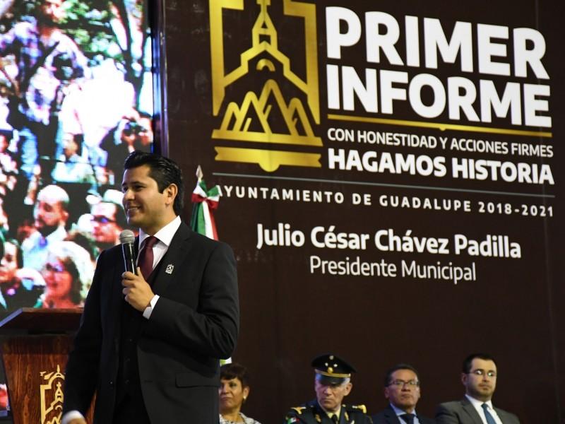 Rinde primer informe Julio César Chávez