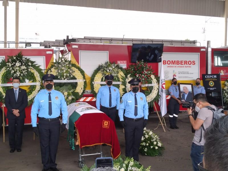 Rinden homenaje a Carlos Mandujano, coordinador de PC Michoacán