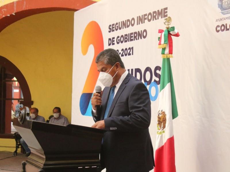 Rinden Segundo Informe de Gobierno del Municipio de Colón