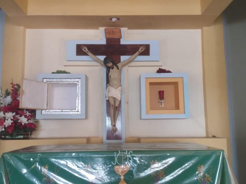 Roban artículos religiosos de la capilla la Guadalupana
